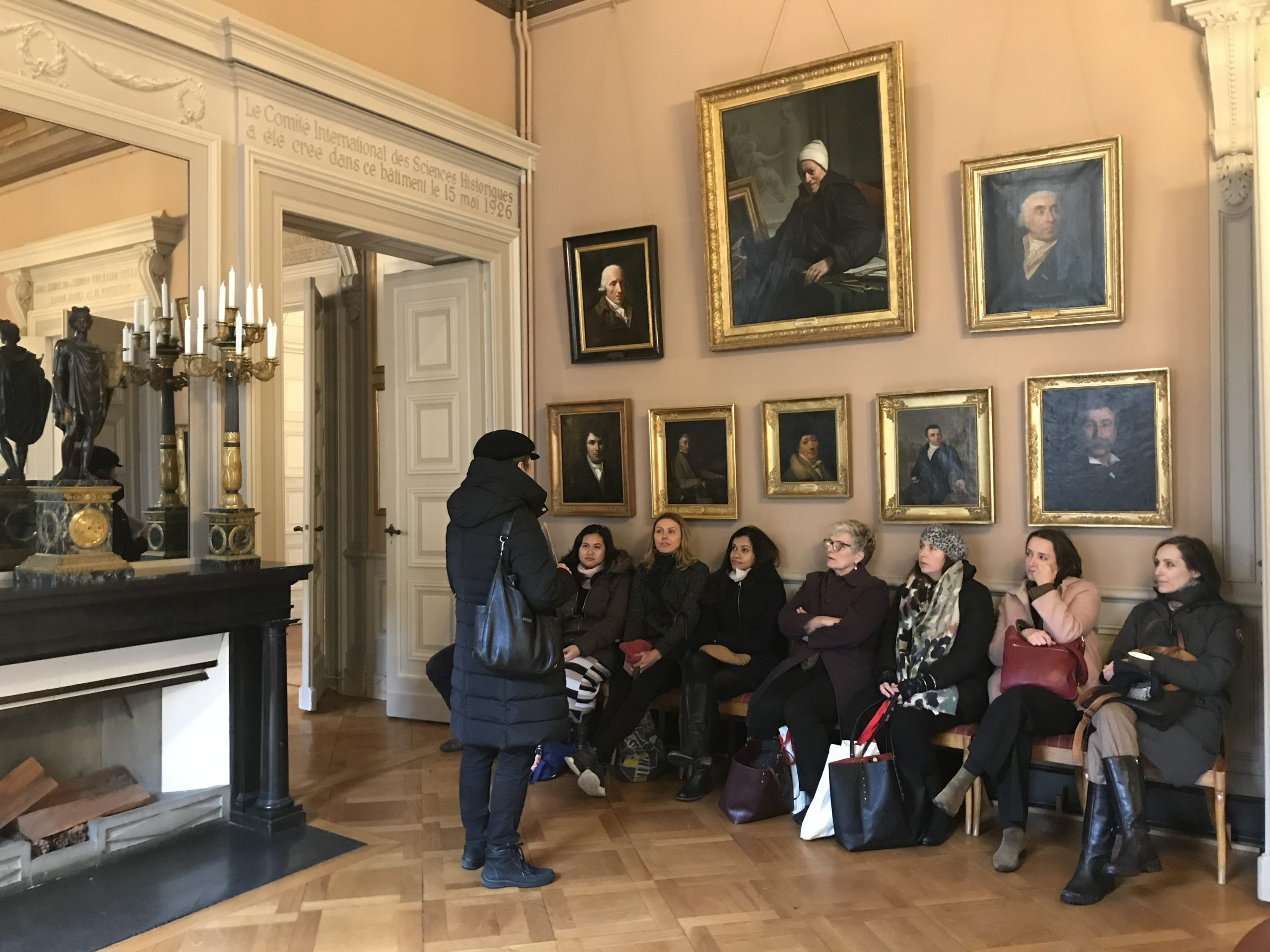 Visit of the Palais de l'Athénée 9 December 2019 - picture: Catherine Hubert-Girod